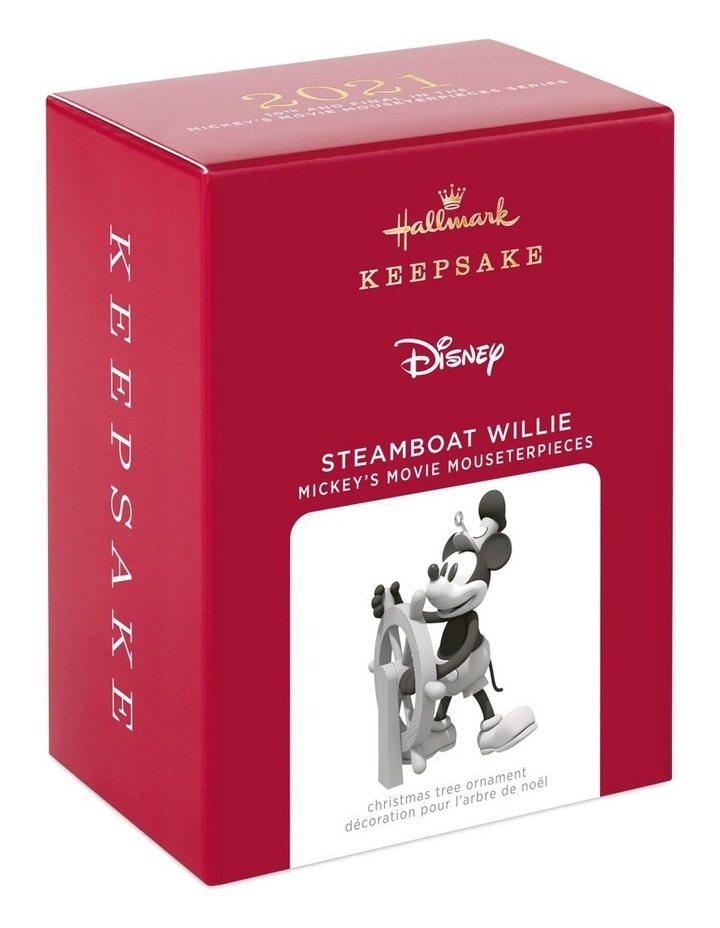 Steamboat Willie 10Th & Final In The Mickey'S Movie Mouseterpieces Series Ornament image 4