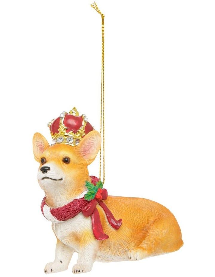 Heirloom Hand-Painted Corgi Hanging Ornament image 1