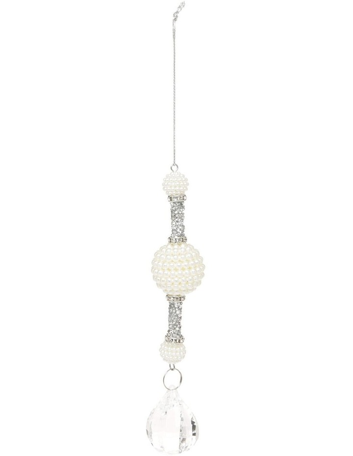 Luxe Drop Pearl And Crystal Hanging Ornament image 1