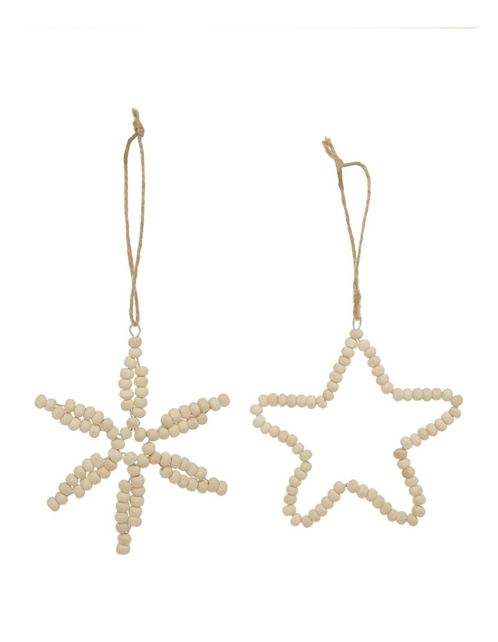 Assorted Eucalyptus Snowflake / Star Hanging Ornament - 10cm image 1