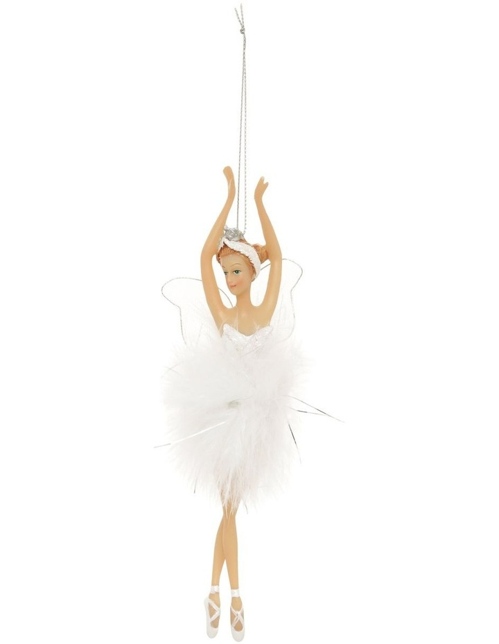 Luxe Winged Fairy Ballerina Hanging Ornament image 1