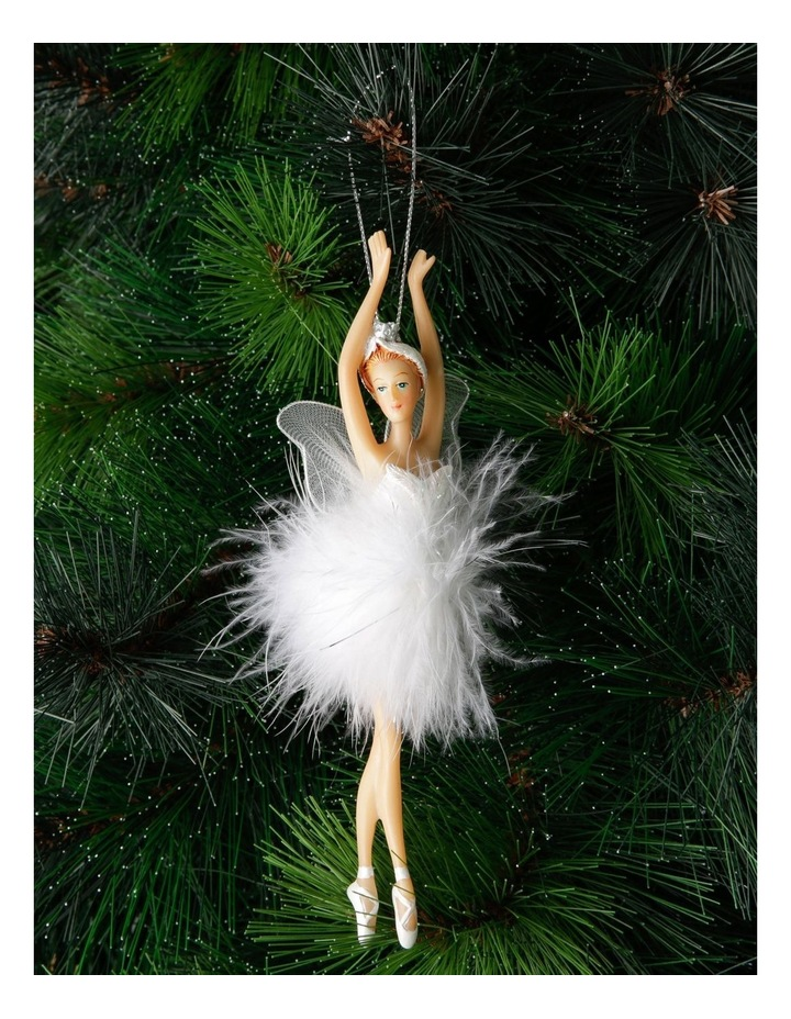 Luxe Winged Fairy Ballerina Hanging Ornament image 2