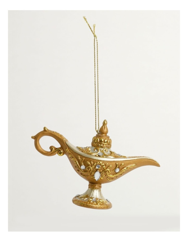 Luxe Polyresin Oil Lamp Ornament- Champagne: 7cm image 2