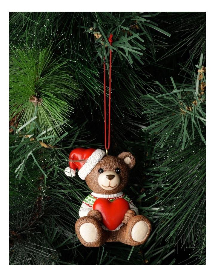 Heirloom Resin 2021 Monty Bear Ornament- Brown: 9cm image 1