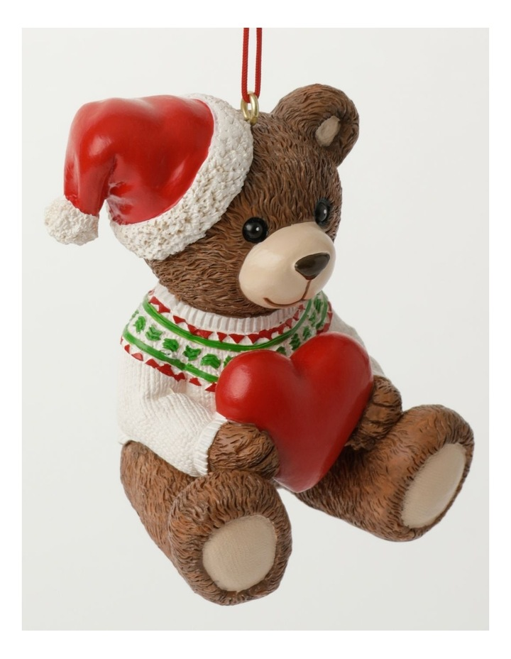 Heirloom Resin 2021 Monty Bear Ornament- Brown: 9cm image 2
