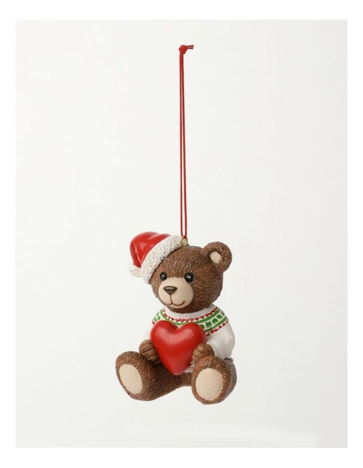 Heirloom Resin 2021 Monty Bear Ornament- Brown: 9cm image 3