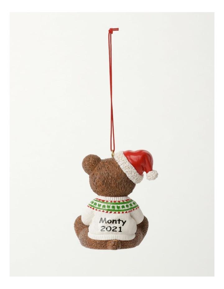 Heirloom Resin 2021 Monty Bear Ornament- Brown: 9cm image 4