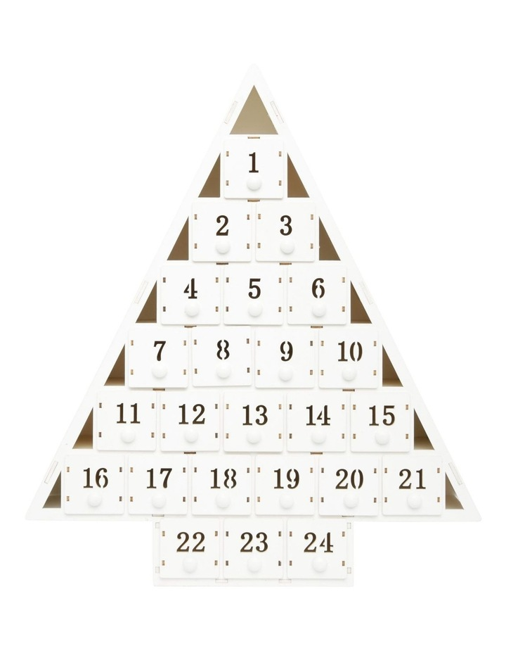 Triangle Shaped Wooden Advent Calendar image 1
