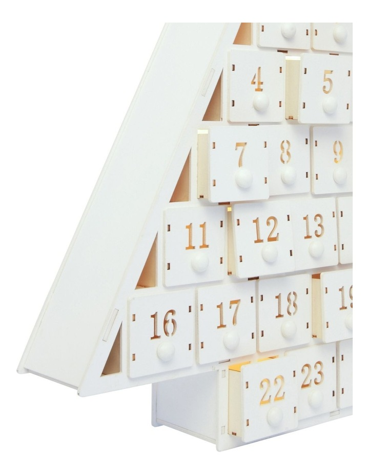 Triangle Shaped Wooden Advent Calendar image 3