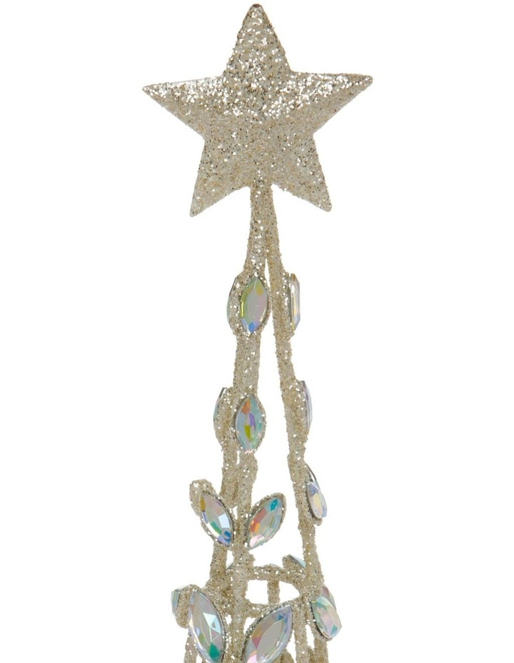 Luxe Champagne Faux Jewel Cone Tree Decoration image 2