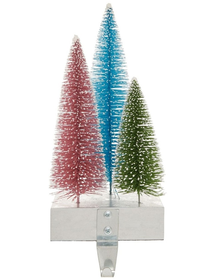 Merry & Bright Tri-Colour Tree Stocking Holder image 1