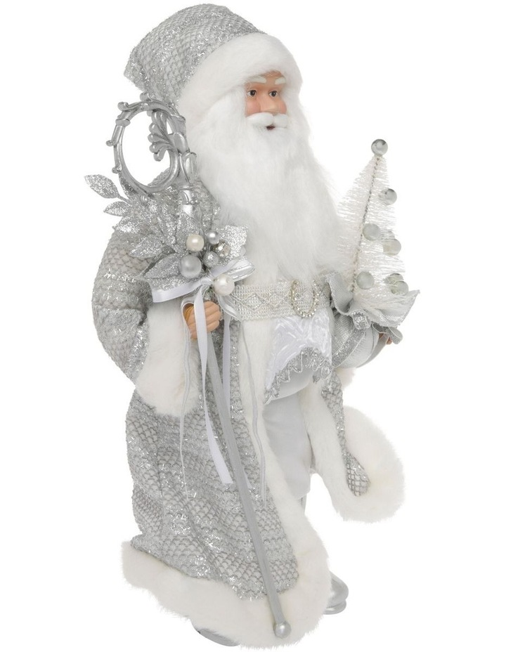 Luxe Avery Fabric Santa with Staff & Tree Decoration 46 cm image 2