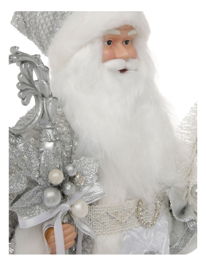 Luxe Avery Fabric Santa with Staff & Tree Decoration 46 cm image 4