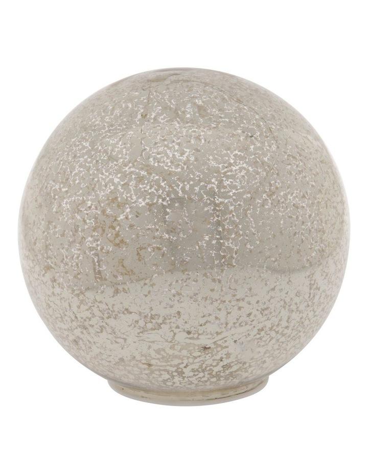Eucalyptus Silver Mercurised Glass LED Orb Decoration 15cm image 1
