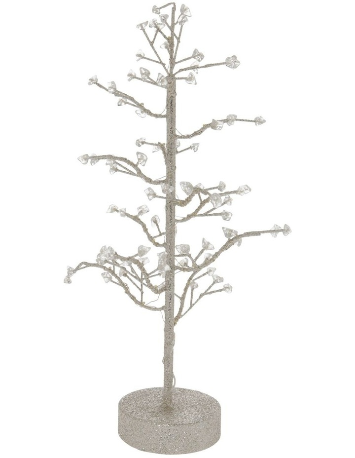 Luxe Faux Jewel Glitter Tree LED Decoration image 1