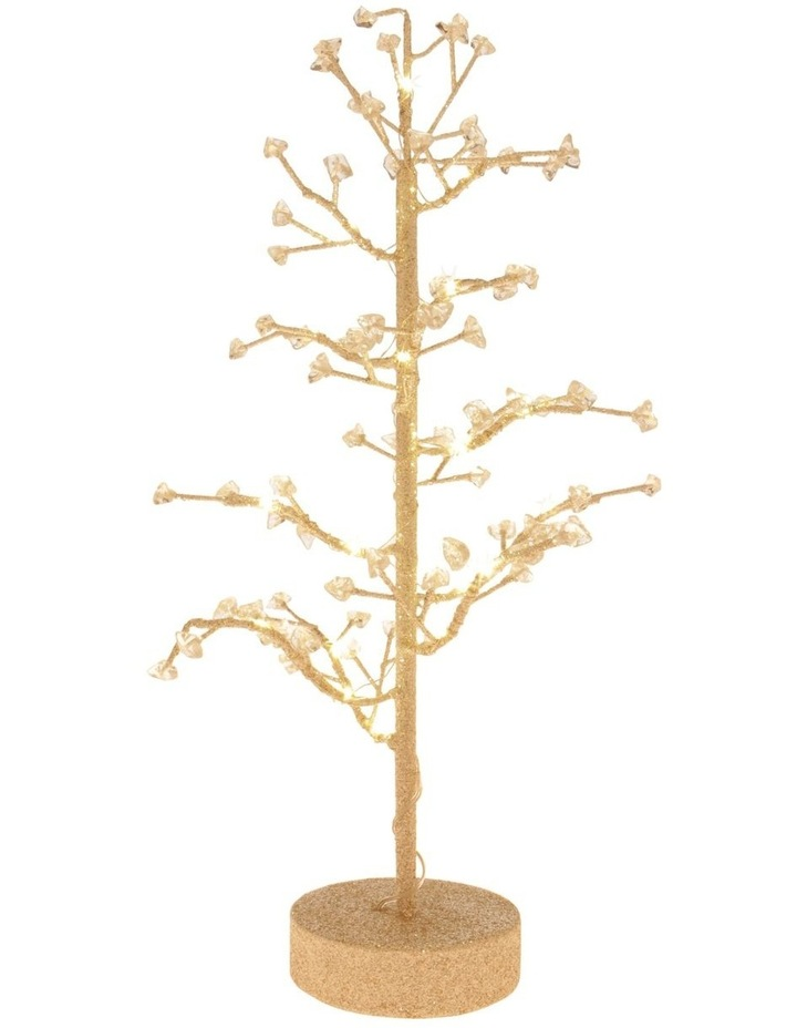 Luxe Faux Jewel Glitter Tree LED Decoration image 2