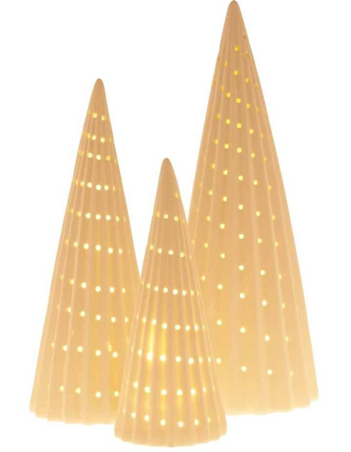 Eucalyptus Small LED Ceramic Tree Decoration 23cm image 4