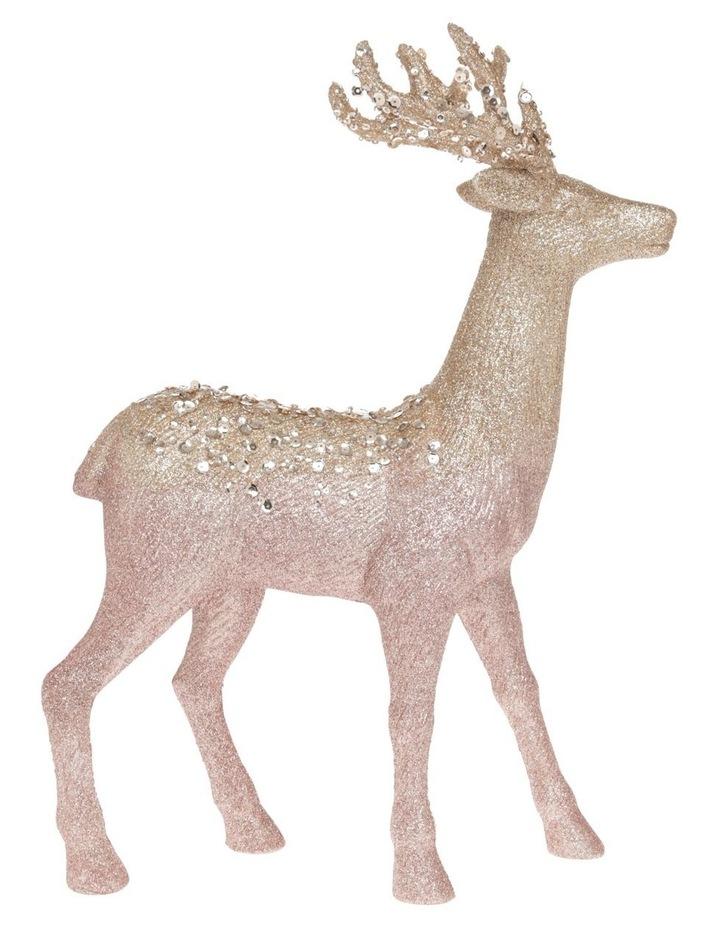 Luxe Assorted Glitter Reindeer Decoration 25cm image 1