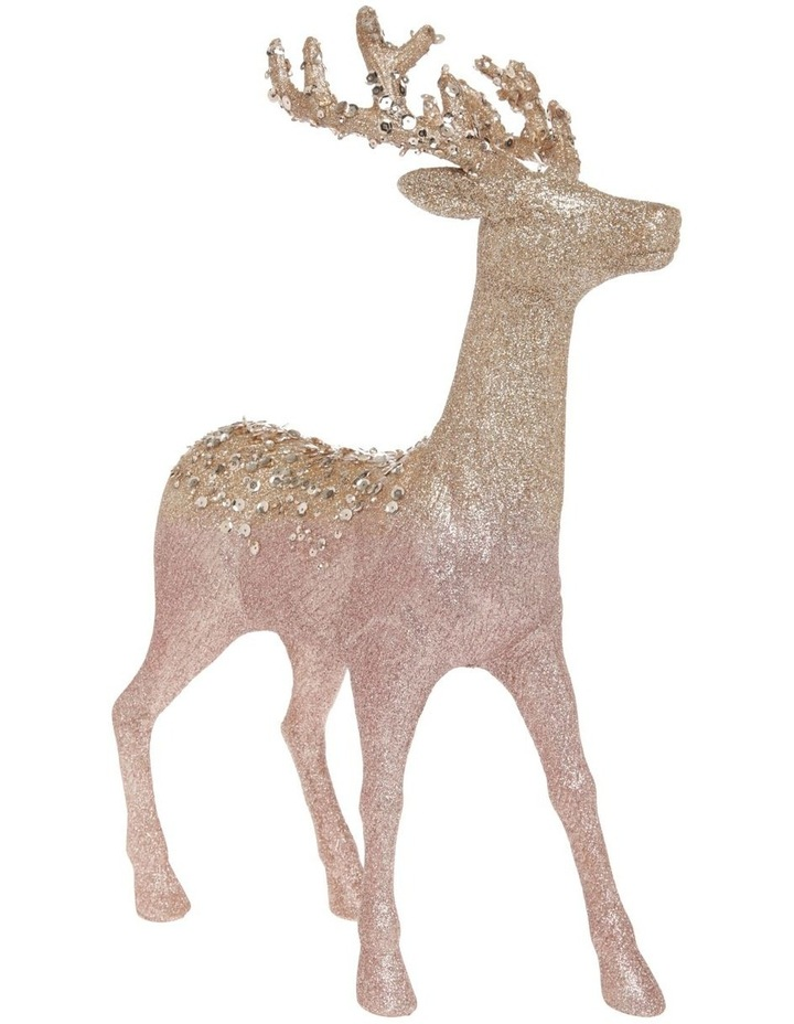 Luxe Assorted Glitter Reindeer Decoration 25cm image 2