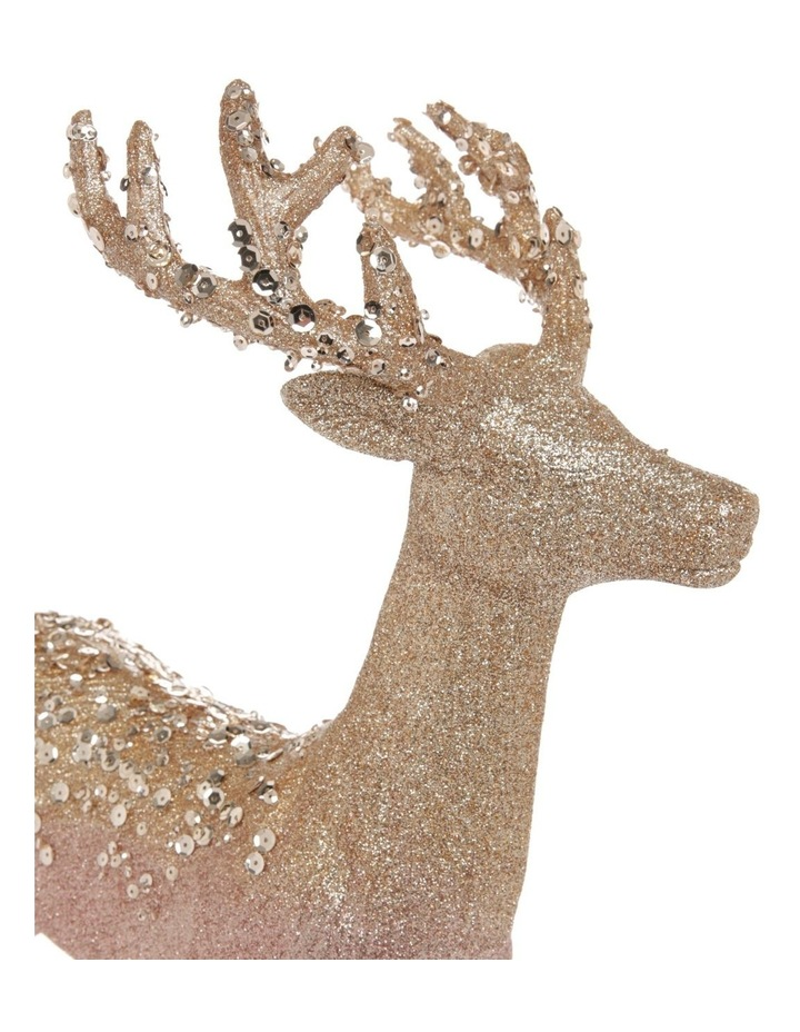 Luxe Assorted Glitter Reindeer Decoration 25cm image 3
