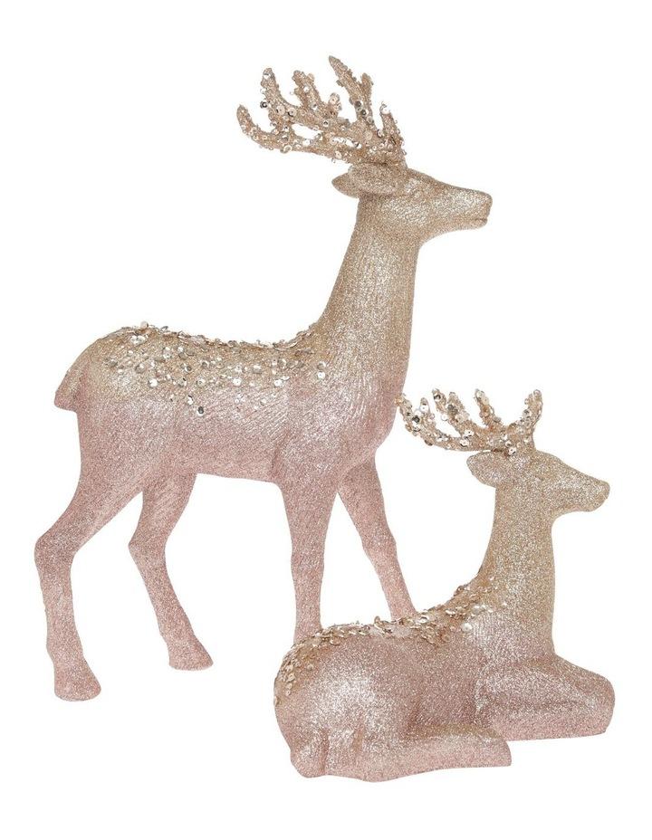 Luxe Assorted Glitter Reindeer Decoration 25cm image 4