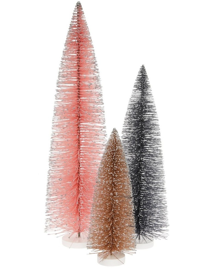 Luxe Large Glitter Bottlebrush Tree Table Decoration 61cm image 3