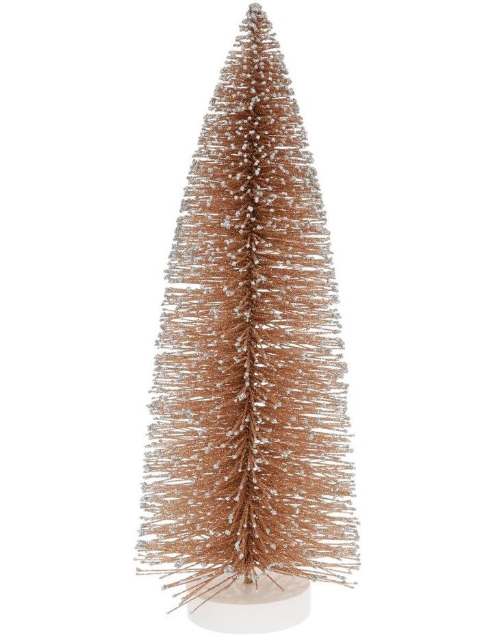Luxe Small Glitter Bottlebrush Tree Table Decoration 30cm image 1