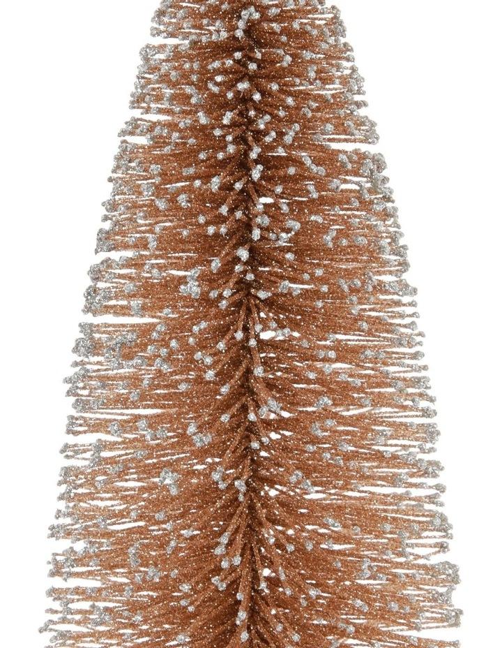 Luxe Small Glitter Bottlebrush Tree Table Decoration 30cm image 2