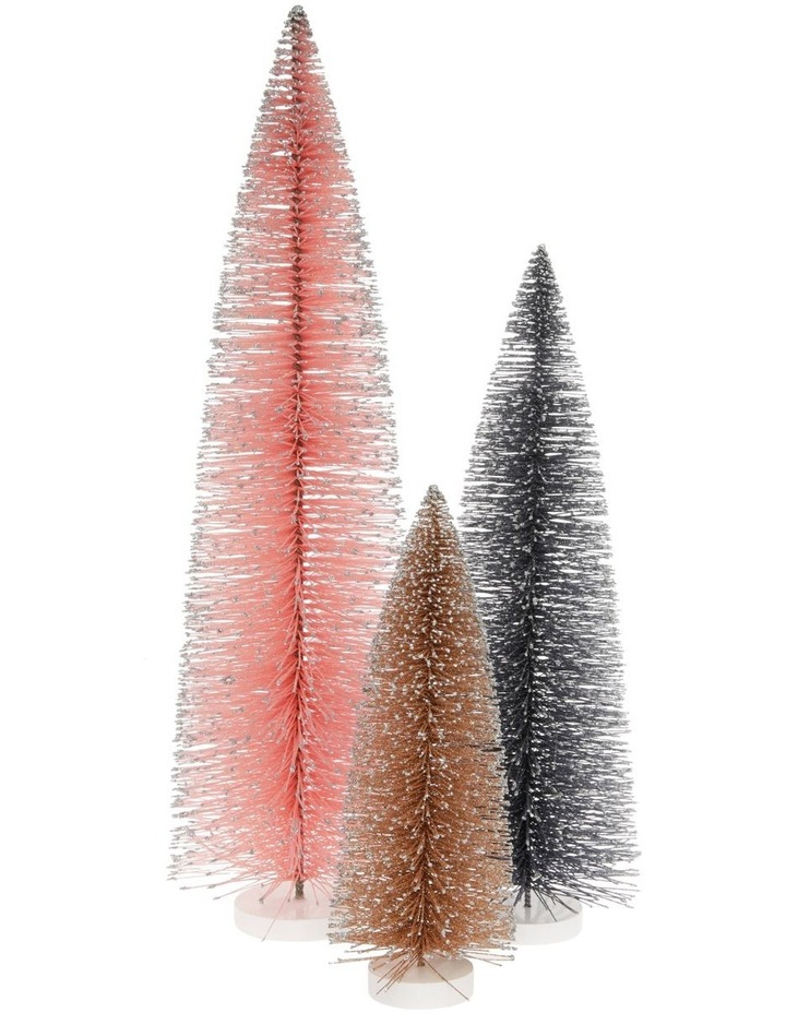 Luxe Small Glitter Bottlebrush Tree Table Decoration 30cm image 3
