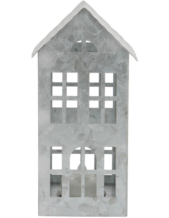 Eucalyptus Silver Metal Cut-Out House LED Decoration 17cm image 1