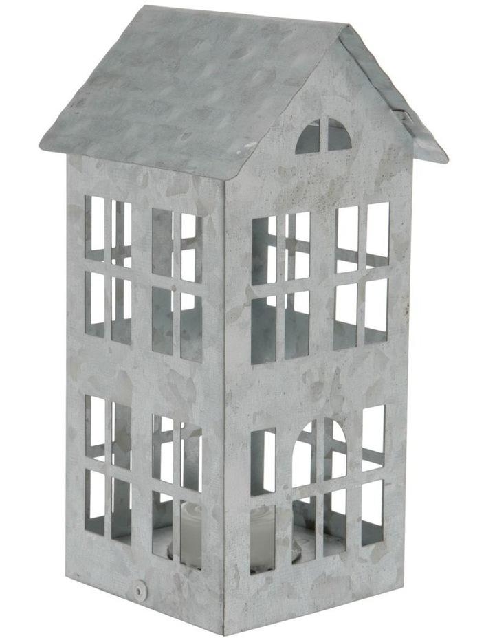 Eucalyptus Silver Metal Cut-Out House LED Decoration 17cm image 2