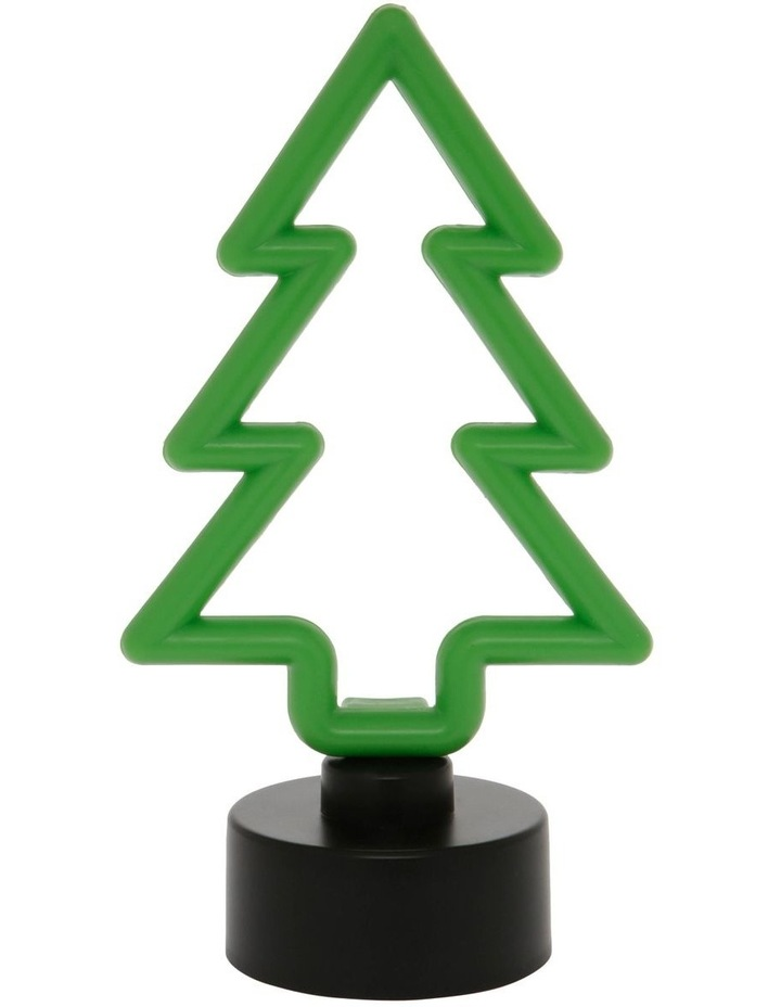 Merry & Bright Neon Green LED Tree Decoration image 1