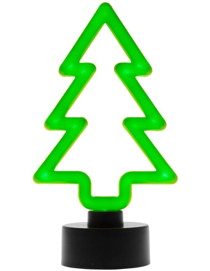 Merry & Bright Neon Green LED Tree Decoration image 2