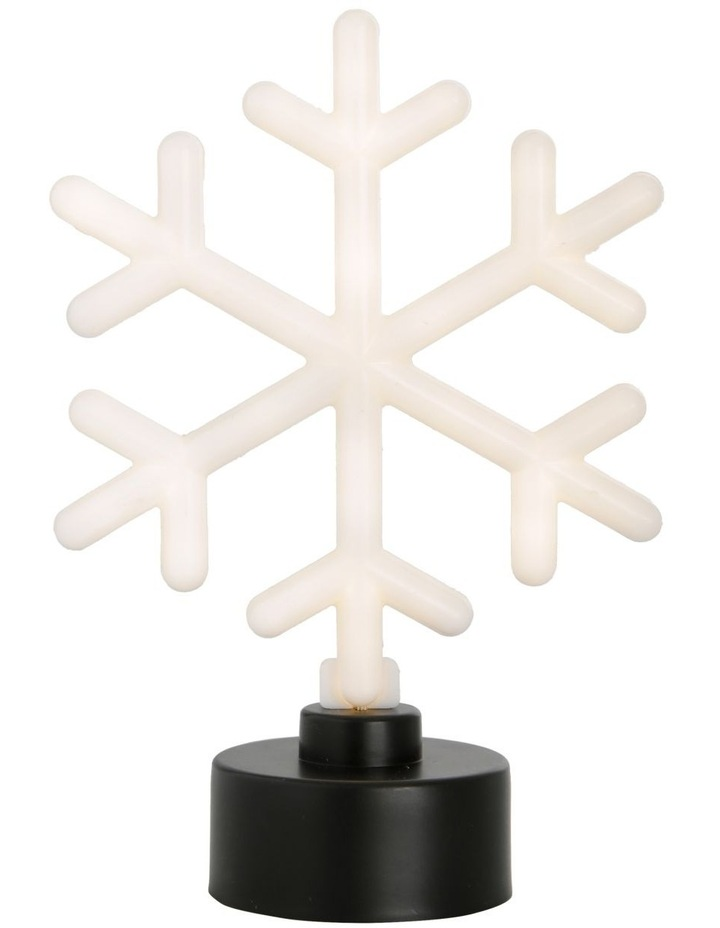 Merry & Bright Neon White LED Snowflake Decoration image 2