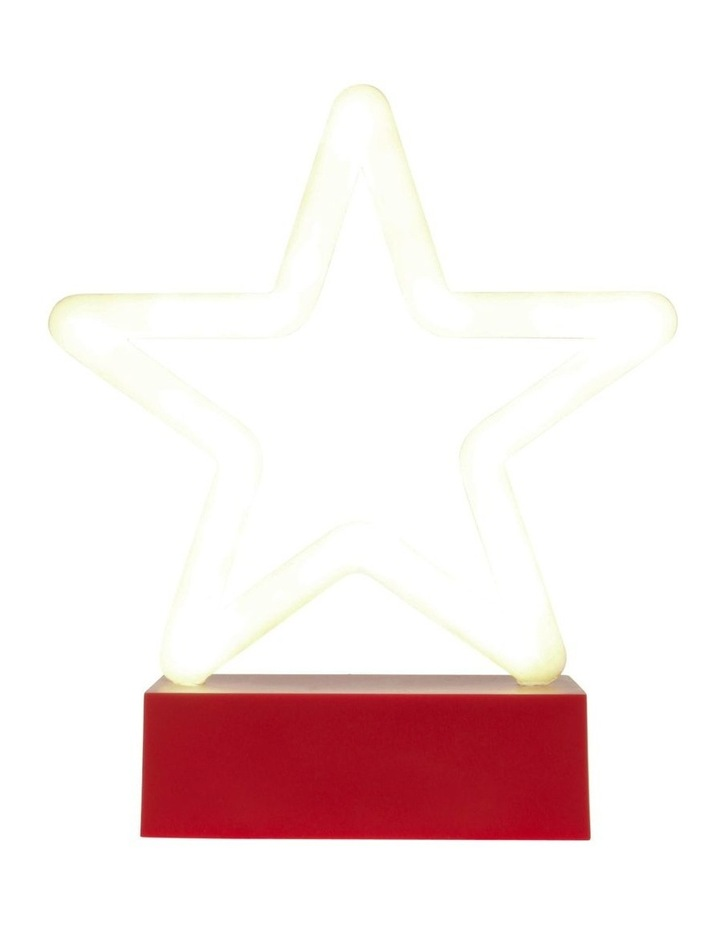 Merry & Bright Neon White LED Star Decoration image 2