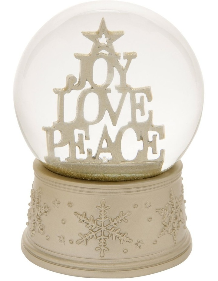 Luxe Joy, Love & Peace Stacked Snowglobe image 1