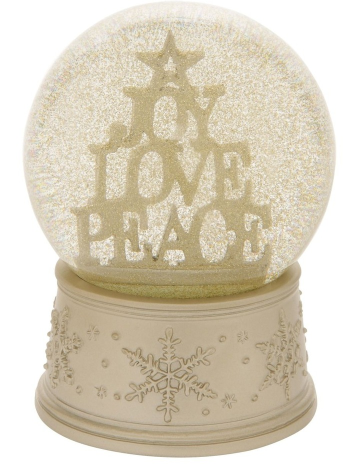 Luxe Joy, Love & Peace Stacked Snowglobe image 2