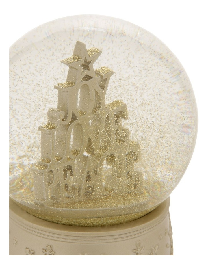 Luxe Joy, Love & Peace Stacked Snowglobe image 3