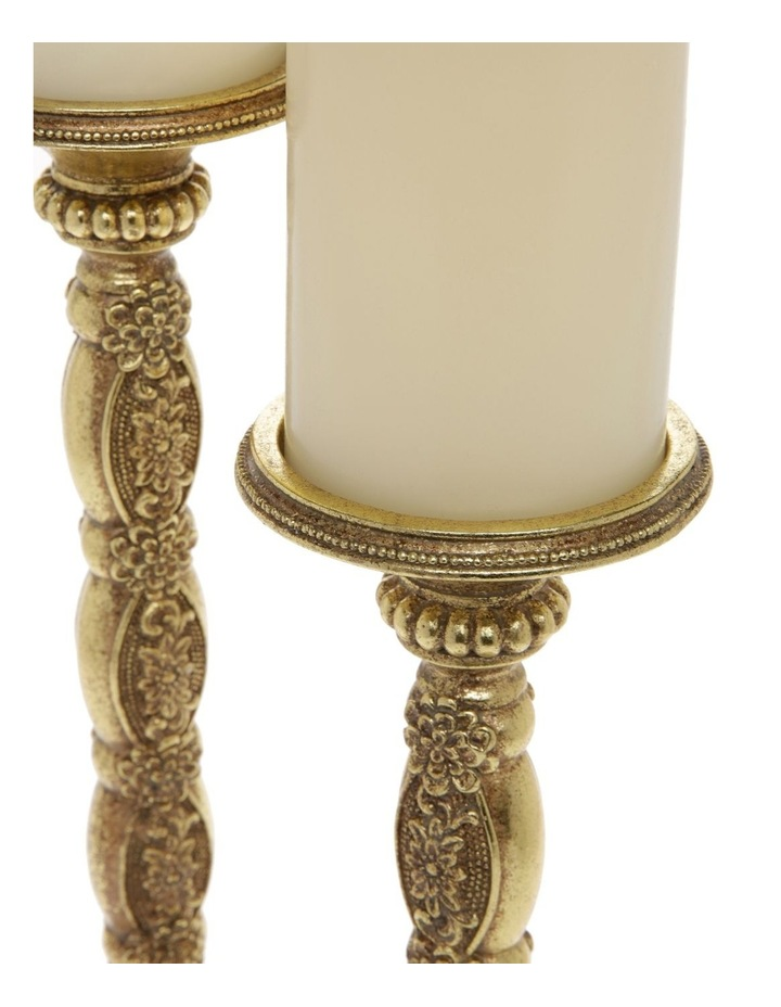 Heirloom Set of 2 Antique-Style Candlesticks in Gold 26cm image 2