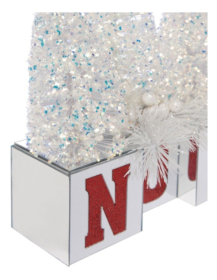 Merry & Bright Glitter Tree NOEL Decoration with Mirrored Base image 3