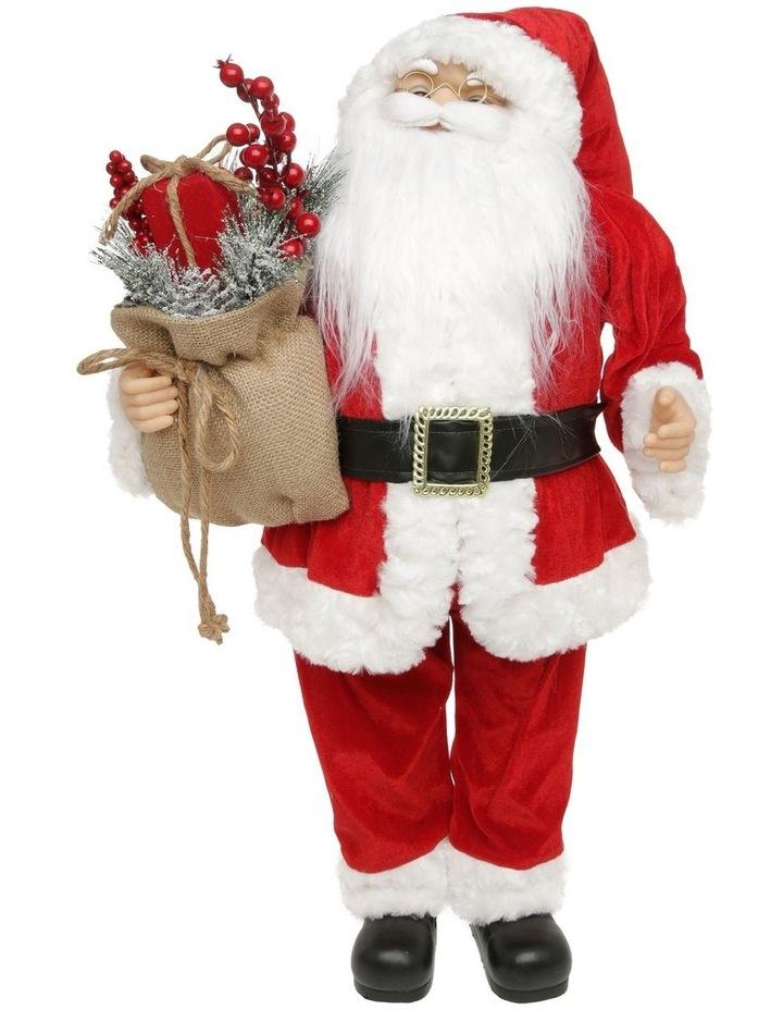 Heirloom Balthazar Fabric Santa with Foliage Sack image 1