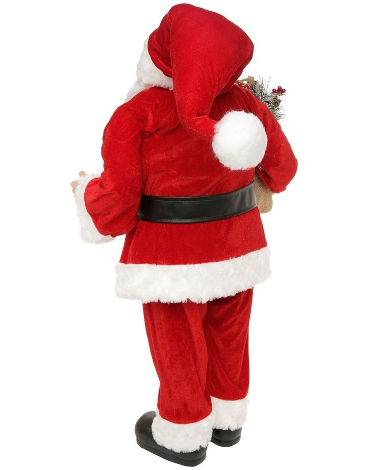 Heirloom Balthazar Fabric Santa with Foliage Sack image 2