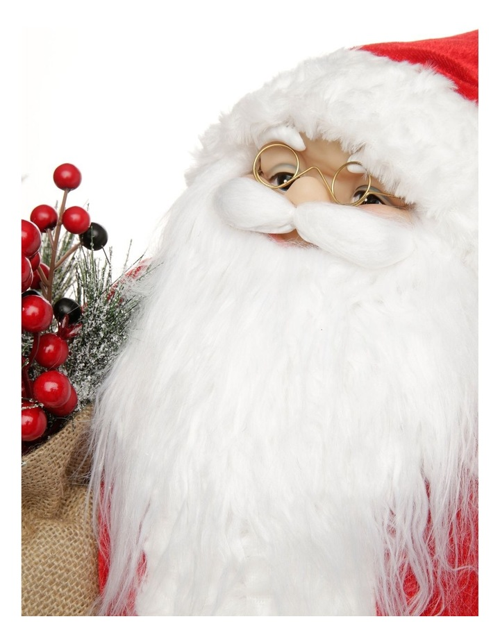 Heirloom Balthazar Fabric Santa with Foliage Sack image 3