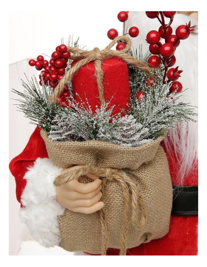 Heirloom Balthazar Fabric Santa with Foliage Sack image 4