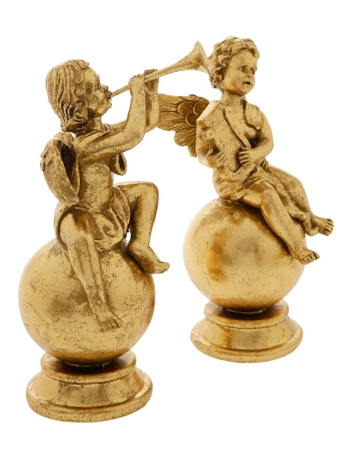 Heirloom Assorted Resin Antiqued Cherub Decoration- Gold: 22 cm image 2