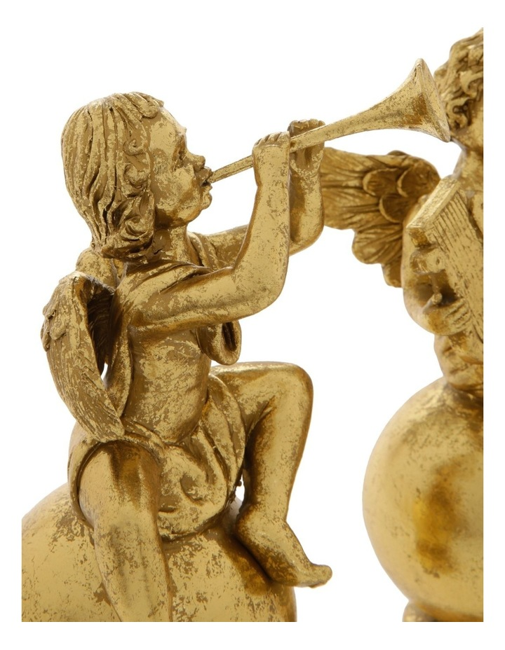 Heirloom Assorted Resin Antiqued Cherub Decoration- Gold: 22 cm image 3