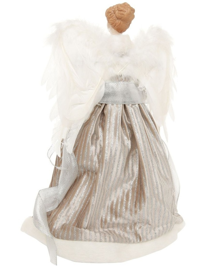 Luxe Divina Fabric Angel Tree-Topper with Feather Wings image 3