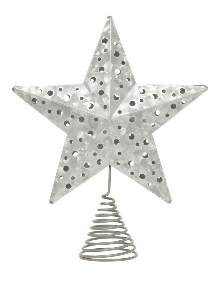 Eucalyptus Metal Cut-out Star Tree Topper - Silver 23 cm image 1
