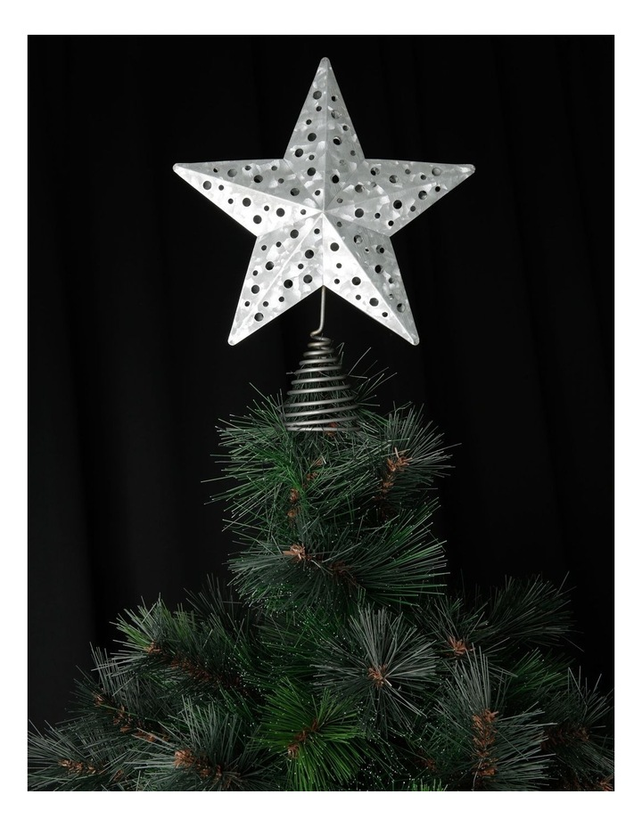 Eucalyptus Metal Cut-out Star Tree Topper - Silver 23 cm image 2
