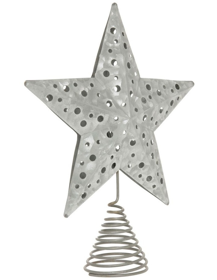 Eucalyptus Metal Cut-out Star Tree Topper - Silver 23 cm image 3